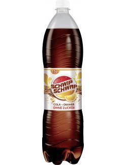 Schwip Schwap Cola + Orange ohne Zucker  (1,50 l) - 4060800151438