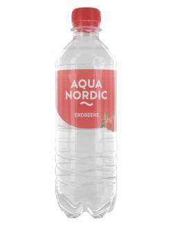 Aqua Nordic Erfrischungsgetränk  Erdbeere  (500 ml) - 4027109908309