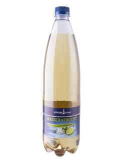 Küstengold Wasser + Frucht Holunderblüte-Limette  (1 l) - 4027109909030