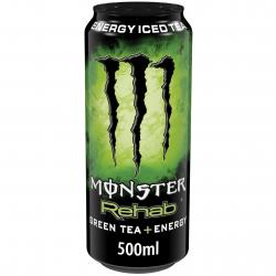 Monster Rehab Green Tea + Energy  (500 ml) - 5060335635273