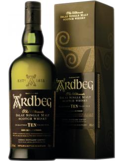 Ardbeg Islay Single Malt Scotch Whisky 10 Jahre 46% Vol.  (700 ml) - 5010494904758