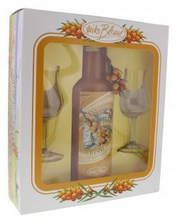 Heiko Blume Sanddorn-Lik�r Geschenkset mit Gl�sern  (500 ml) - 4101040027692