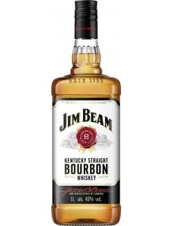 Jim Beam White Bourbon Whisky  (1 l) - 5010196092142