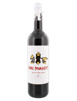 THR3 Monkeys Fruity Red Wine  (750 ml) - 7350041450290