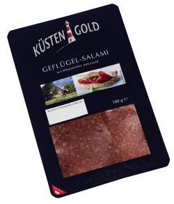 Küstengold Geflügelsalami  (100 g) - 4019467418101