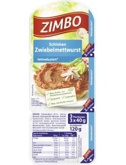 Zimbo Schinken Zwiebelmettwurst  (120 g) - 4034167104307