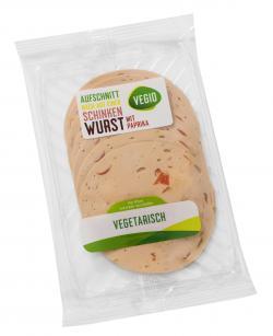 Vegio Vegetarische Schinkenwurst mit Paprika  (80 g) - 4250780317744