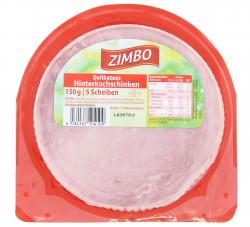 Zimbo Delikatess Hinterkochschinken  (150 g) - 4034167104109