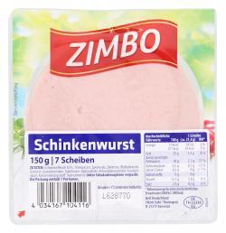 Zimbo Schinkenwurst  (150 g) - 4034167104116