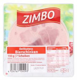 Zimbo Delikatess Bierschinken  (150 g) - 4034167104093