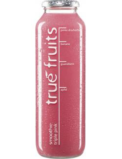 True fruits Smoothie triple pink  (750 ml) - 4260122390397