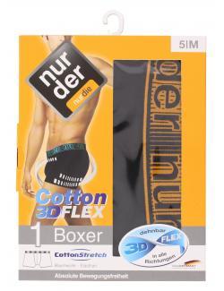 nur der Boxer Cotton 3D-Flex dynamic Gr. 5 M schwarz/orange  (1 St.) - 4003015534214