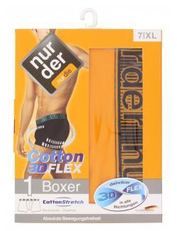 nur der Boxer Cotton 3D-Flex dynamic Gr. 7 XL orange/schwarz  (1 St.) - 4003015534511