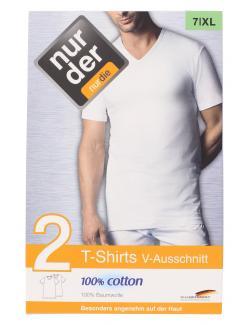 nur der T-Shirt V-Ausschnitt classic Gr. 7 XL weiß  (1 St.) - 4003015539288