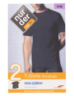 nur der T-Shirt Rundhals classic Gr. 5 M schwarz  (1 St.) - 4003015543322