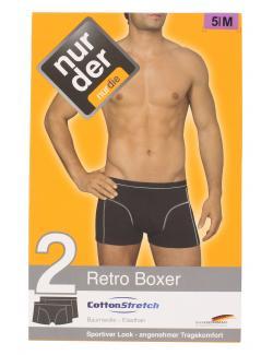 nur der Retro Boxer Cotton Strech dynamic Gr. 5 M schwarz  (1 St.) - 4003015542585
