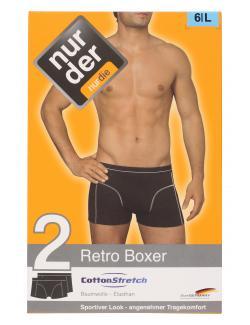 nur der Retro Boxer Cotton Strech dynamic Gr. 6 L schwarz  (1 St.) - 4003015542615
