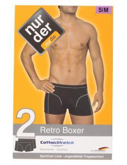 nur der Retro Boxer Cotton Stretch dynamic Gr. 5 M marine  (1 St.) - 4003015542462