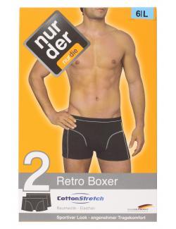 nur der Retro Boxer Cotton Stretch dynamic Gr. 6 L marine  (1 St.) - 4003015542493