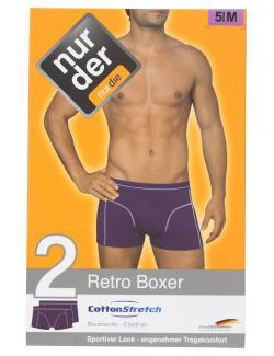 nur der Retro Boxer Cotton Stretch Gr. 5 M aubergine  (1 St.) - 4003015577617