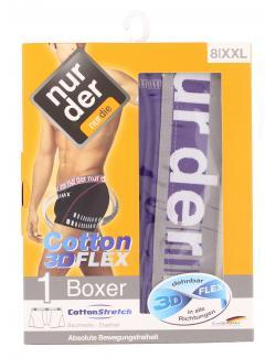 nur der Boxer Cotton 3D-Flex dynamic Gr. 8 XXL lila/grau  (1 St.) - 4003015577129