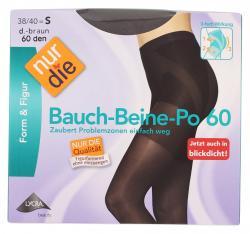 nur die Bauch-Beine-Po Strumpfhose 60 den Gr. 38-40 S dunkelbraun  (1 St.) - 4003015005325