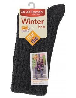 nur die Winter Kniestr�mpfe Gr. 35-38 grau meliert  (1 St.) - 4003015019483