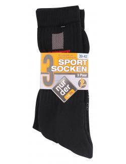 nur der Sportsocken Gr. 39-42 schwarz-gemustert  (1 St.) - 4003015015959