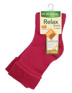 nur die Relax Socke Gr. 35-38 rosarot  (1 St.) - 4003015026474
