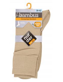 nur der Bambus Socke Gr. 39-42 leinen  (1 St.) - 4003015019841