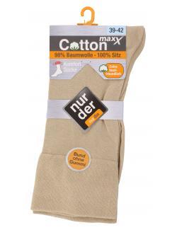 nur der Cotton Maxx Komfort Socke Gr. 39-42 beige  (1 St.) - 4003015020632