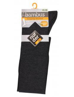 nur der Bambus Kniestrumpf Gr. 43-46 anthrazit  (1 St.) - 4003015020199