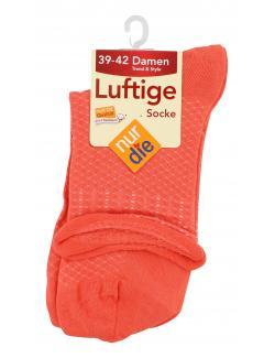 nur die Luftige Socke Gr. 39-42 koralle  (1 St.) - 4003015560046