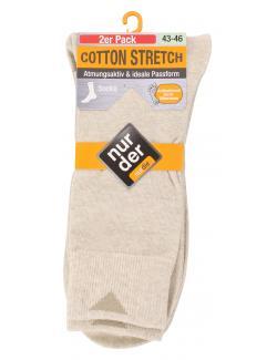 nur der Cotton Stretch Socke Gr. 43-46 beigemelange  (1 St.) - 4003015021240