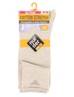 nur der Cotton Stretch Socke Gr. 47-48 beigemeliert  (1 St.) - 4003015021516