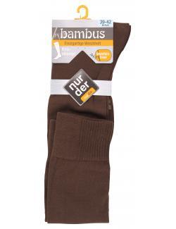 nur der Bambus Kniestrumpf Gr. 39-42 braun  (1 St.) - 4003015019940
