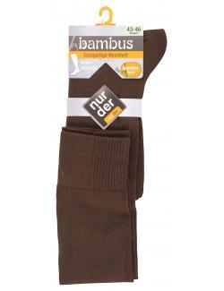 nur der Bambus Kniestrumpf Gr. 43-46 braun  (1 St.) - 4003015019957