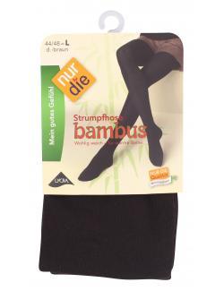 nur die Bambus Strumpfhose Gr. 44-48 L dunkelbraun  (1 St.) - 4003015060041