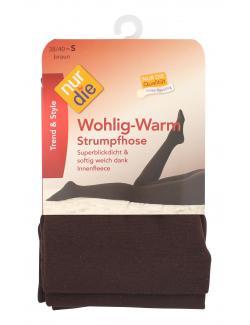 nur die Wohlig-Warm Strumpfhose Gr. 38-40 S braun  (1 St.) - 4003015588453
