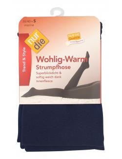 nur die Wohlig-Warm Strumpfhose Gr. 38-40 S marine  (1 St.) - 4003015588392