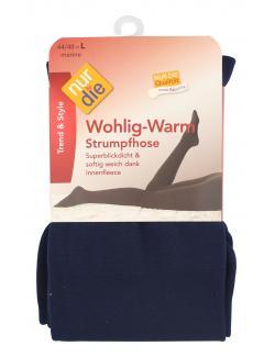 nur die Wohlig-Warm Strumpfhose Gr. 44-48 L marine  (1 St.) - 4003015588415