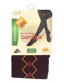 nur die Bambus Strumpfhose Gr. 38-40 S rotbraun-gemustert  (1 St.) - 4003015584103
