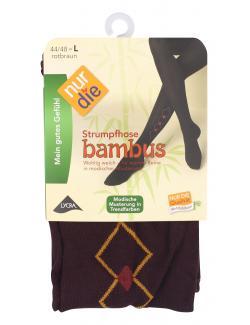 nur die Bambus Strumpfhose Gr. 44-48 L rotbraun-gemustert  (1 St.) - 4003015584141