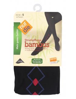 nur die Bambus Strumpfhose Gr. 38-40 S schwarz-gemustert  (1 St.) - 4003015584288