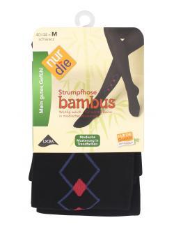 nur die Bambus Strumpfhose Gr. 40-44 M schwarz-gemustert  (1 St.) - 4003015584301