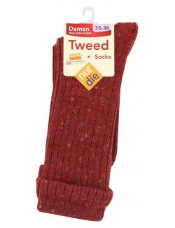 nur die Tweed Socke Gr. 35-38 rot  (1 St.) - 4003015584356