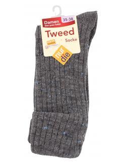 nur die Tweed Socke Gr. 35-38 granit  (1 St.) - 4003015584394
