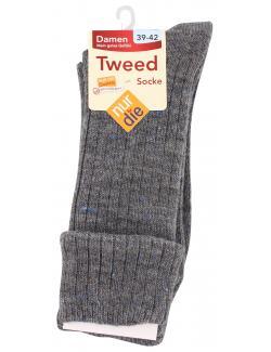 nur die Tweed Socke Gr. 39-42 granit  (1 St.) - 4003015584417