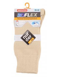 nur der 3D-Flex Komfort Socke Gr. 39-42 leinen  (1 St.) - 4003015583182