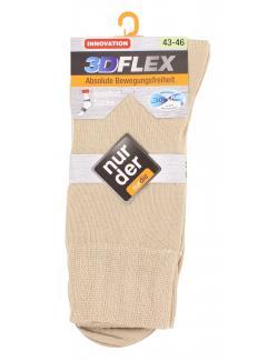 nur der 3D-Flex Komfort Socke Gr. 43-46 leinen  (1 St.) - 4003015583205